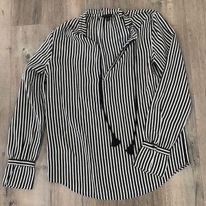 Ann Taylor Long Sleeve Striped Top